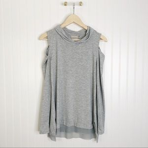 Nanette Laporte gray small long sleeve top shirt